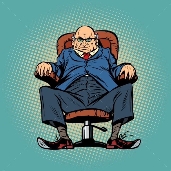 Old Boss in the Chair - People Characters