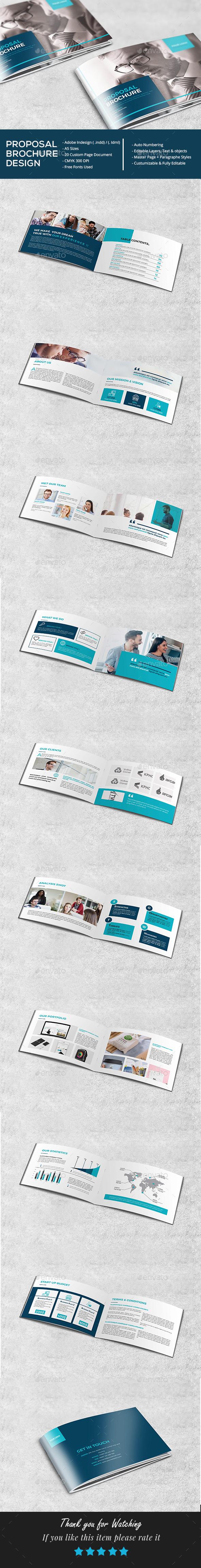 A5 Proposal Brochure - Brochures Print Templates