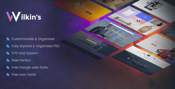 Wilkins | Website Builder Muti-Purpose PSD Template - Creative PSD Templates