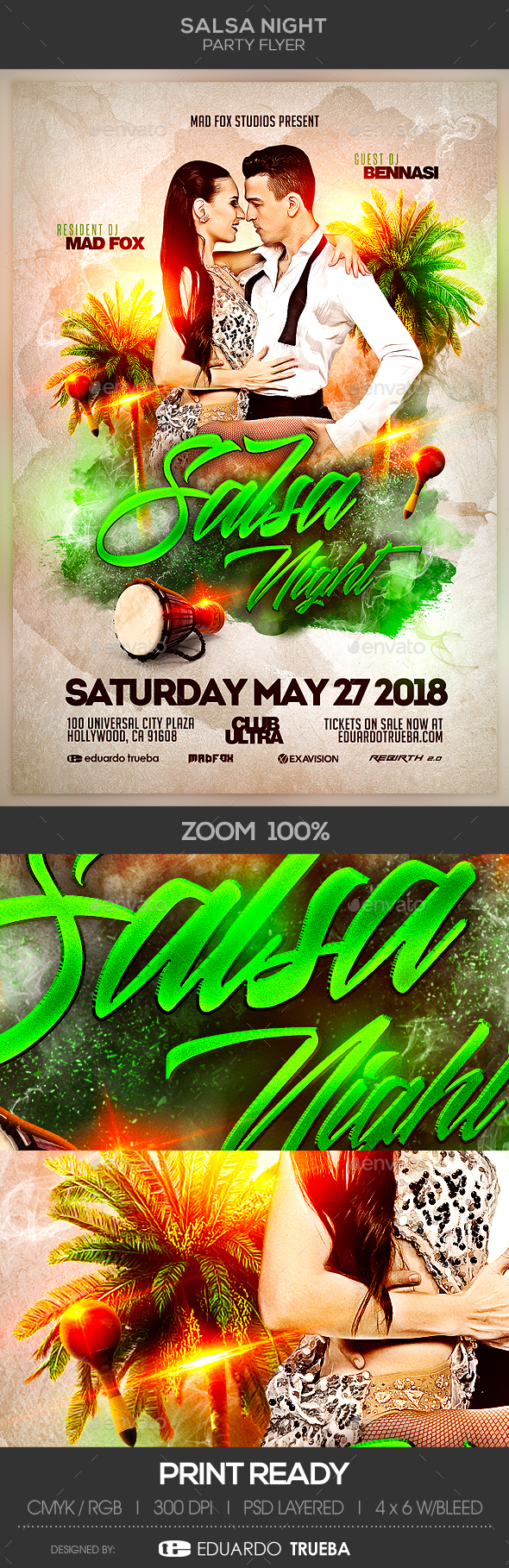 Salsa Night Party Flyer - Clubs & Parties Events