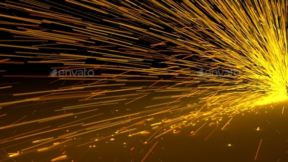 Particles Sparks Dots Fireworks Slow Motion Trails - Backgrounds Graphics