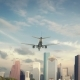 Airplane Landing Houston USA - VideoHive Item for Sale