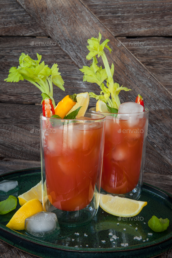 Bloody Mary cocktail - Stock Photo - Images