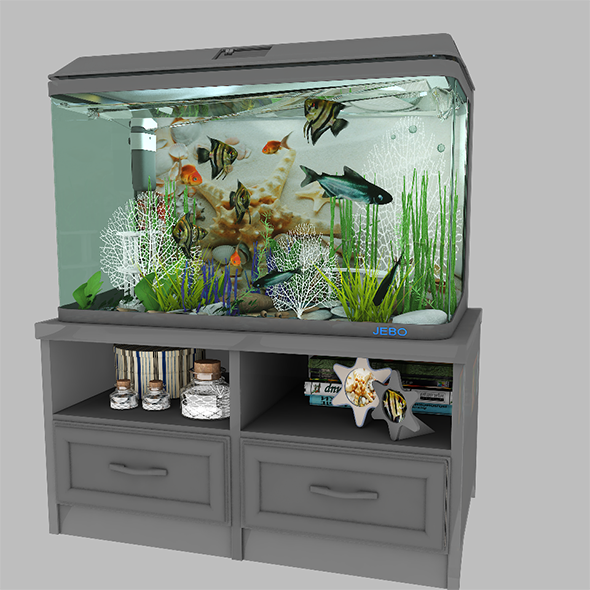 Aquarium 1 - 3DOcean Item for Sale