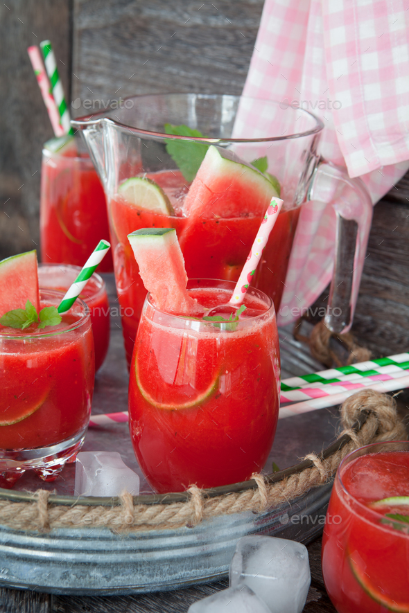 Water melon drink - Stock Photo - Images