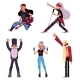 Set of Elder Rock Musicians and Singers - GraphicRiver Item for Sale