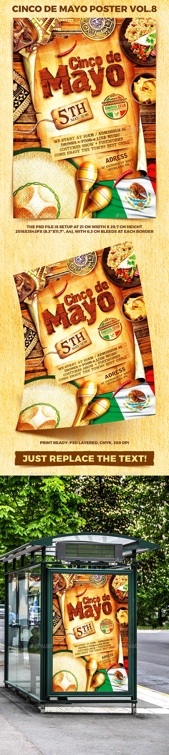 Cinco de Mayo Party Poster vol.8 - Holidays Events
