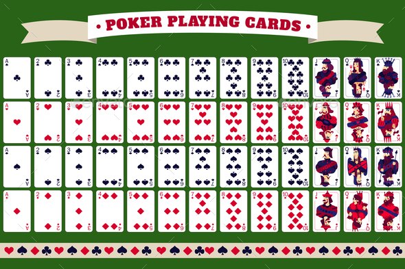 Full Deck of Poker Playing Cards - Miscellaneous Vectors