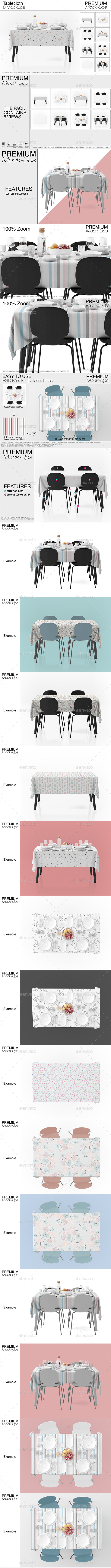 Tablecloth Mockup Set - Print Product Mock-Ups