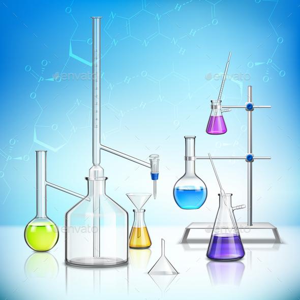 Laboratory Glassware Composition - Miscellaneous Vectors