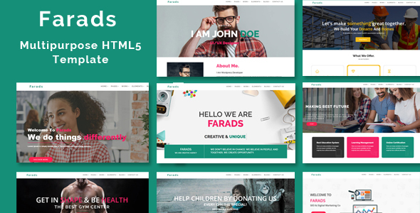 Farads – Multi-Purpose Responsive HTML5 Template - Site Templates