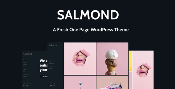 Salmond - A Fresh One Page WordPress Theme