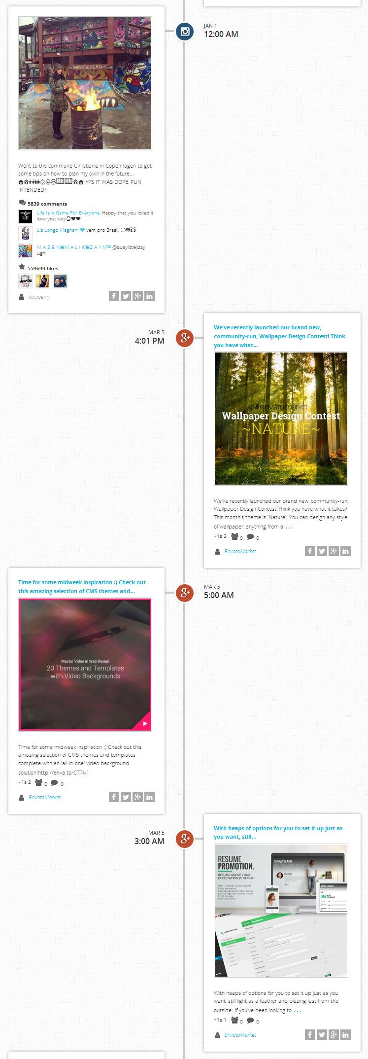 Simple Social Media Stream Joomla Extension by axentmedia2 ...