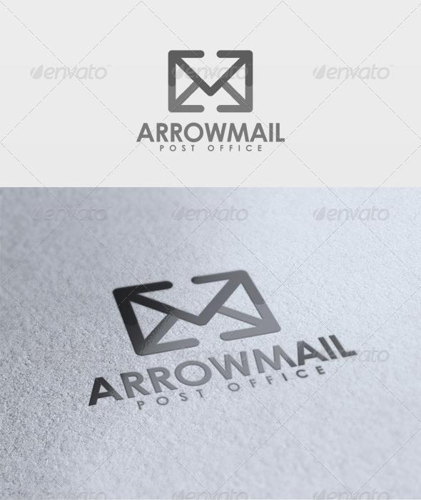 Arrow Mail Logo - Objects Logo Templates