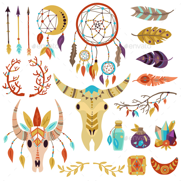 Boho Elements Set - Miscellaneous Vectors