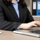 Businesswoman Hands Typing on Laptop - VideoHive Item for Sale