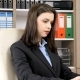 Young Beautiful Businesswoman Typing on Laptop - VideoHive Item for Sale