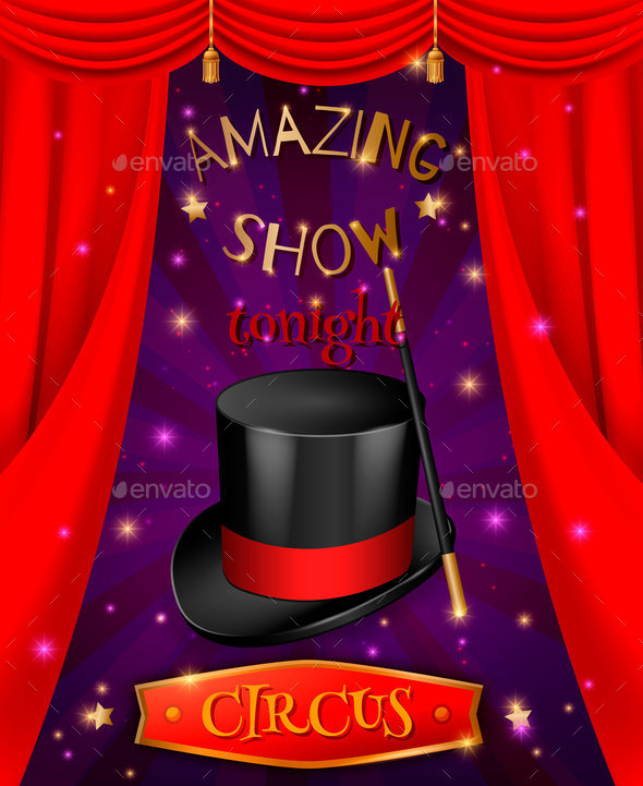Amazing Circus Poster Composition - Backgrounds Decorative
