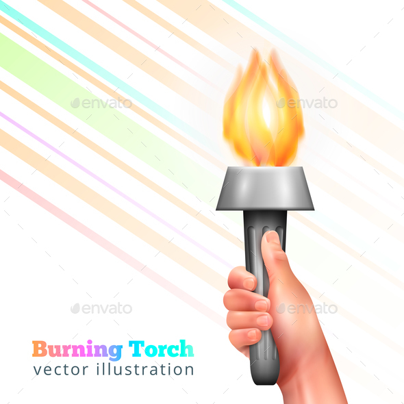 Realistic Hand Torch Background - Miscellaneous Vectors