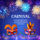 Carnival Masks Firework Background