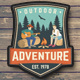 Outdoor Adventure Patches - GraphicRiver Item for Sale