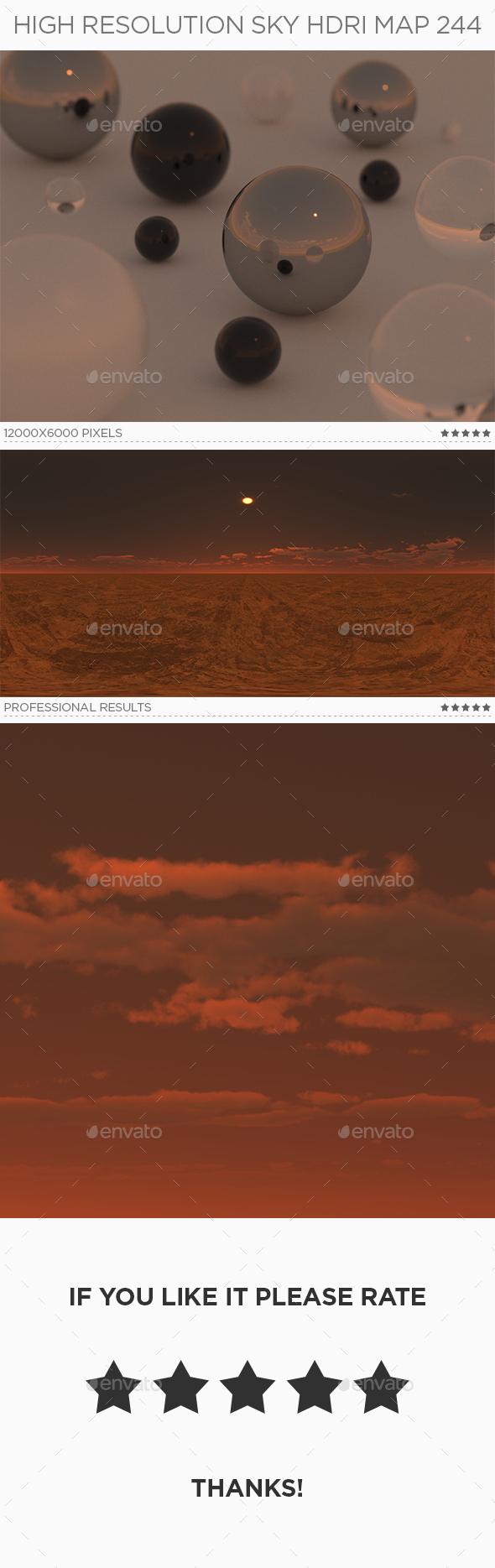 High Resolution Sky HDRi Map 244 - 3DOcean Item for Sale