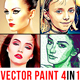 Vector Paint - 4in1 Photoshop Actions Bundle