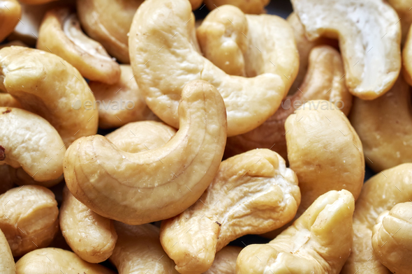 Close up picture of cashew nuts. - Stock Photo - Images