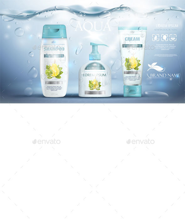 Shampoo Packaging - Health/Medicine Conceptual