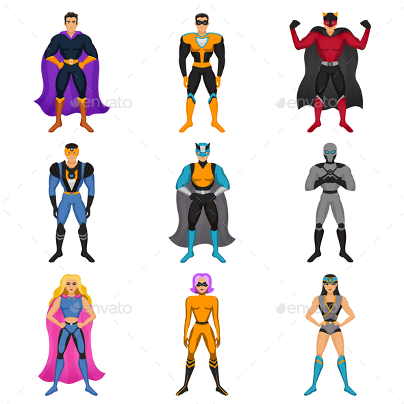 Superhero Costumes Set - Miscellaneous Characters