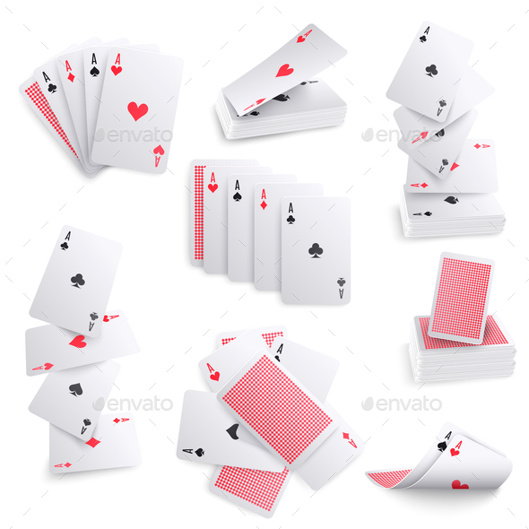 Playing Cards Realistic Sets - Miscellaneous Vectors