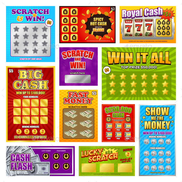 Scratch Win Cards Set - Man-made Objects Objects