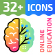 32+ Online Education Flat Icons