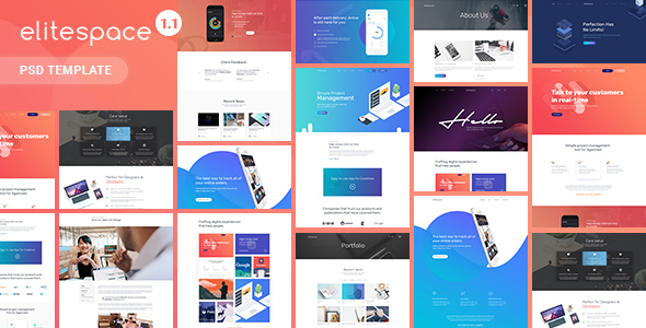 Elitespace - Creative Multi-Purpose PSD Templates - Creative PSD Templates