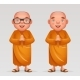 Buddhist Monk Traditional Asian Buddhism - GraphicRiver Item for Sale