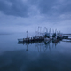 Low aerial view of shrimp boats in port in Port Royal, South Car - PhotoDune Item for Sale