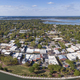 Aerial panorama of Beaufort, South Carolina with cruise ship in - PhotoDune Item for Sale