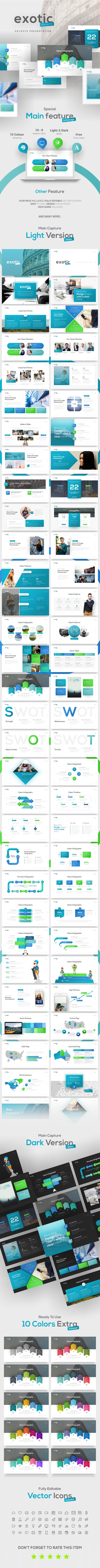 Exotic Project Keynote Presentation Template - Keynote Templates Presentation Templates