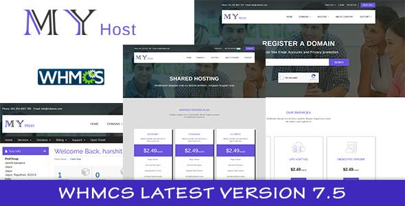 My Host WHMCS Hosting Template - Hosting Technology