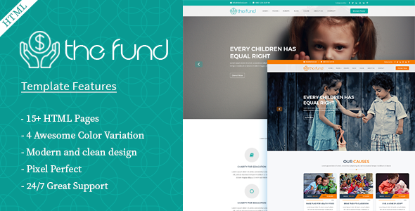 The Fund- Charity Crowdfunding HTML5 Template - Charity Nonprofit
