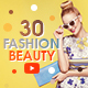 YouTube Bundle - 30 Creative Beauty & Fashion YouTube Banners - GraphicRiver Item for Sale