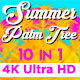 Summer Palm Tree Vj Loops - VideoHive Item for Sale