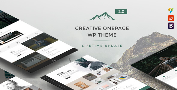 Luvaniz - Creative One Page WordPress Theme - Creative WordPress