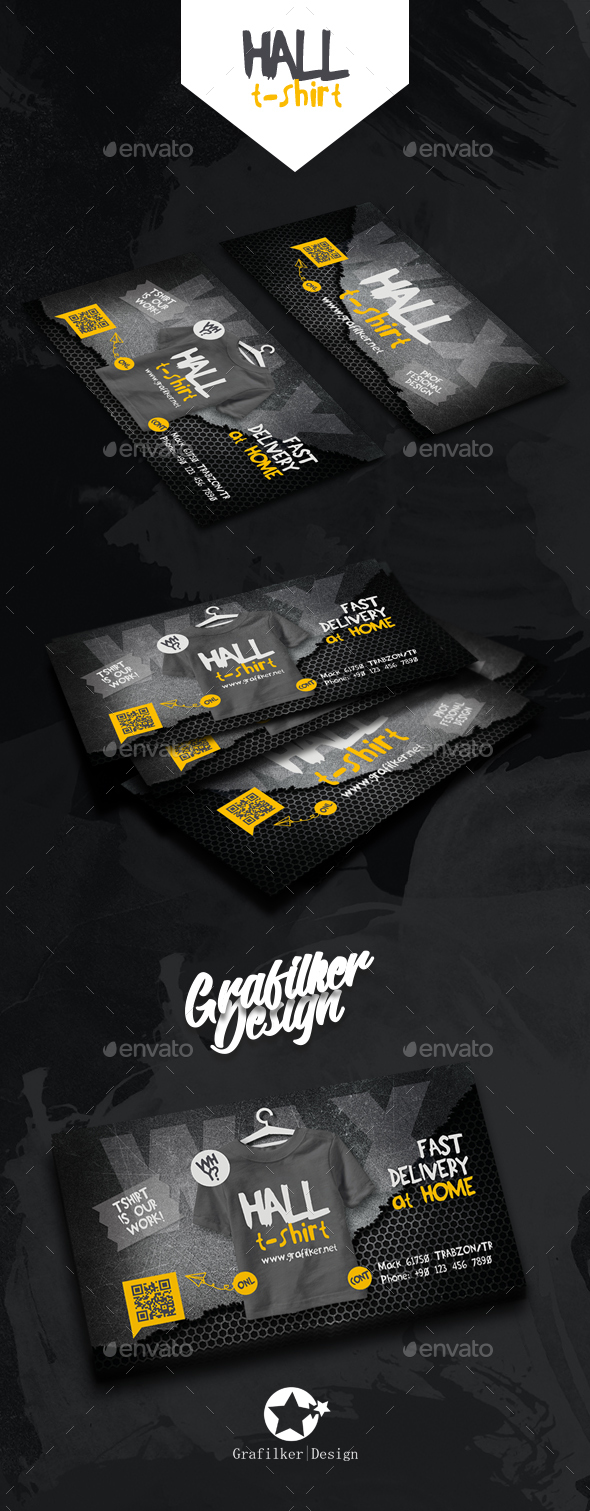 T-Shirt Business Card Templates - Corporate Business Cards