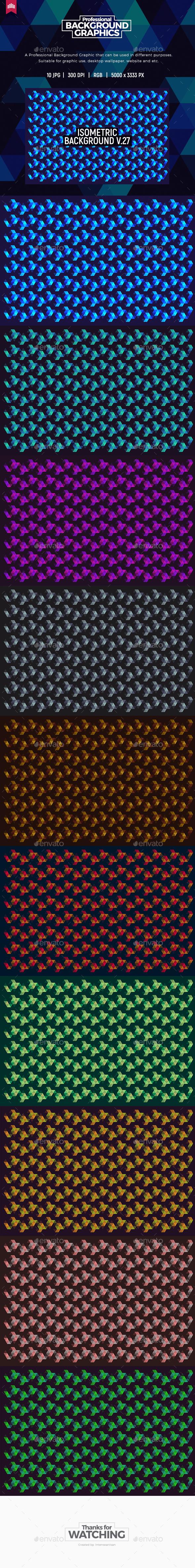 Isometric Background V.27 - Patterns Backgrounds