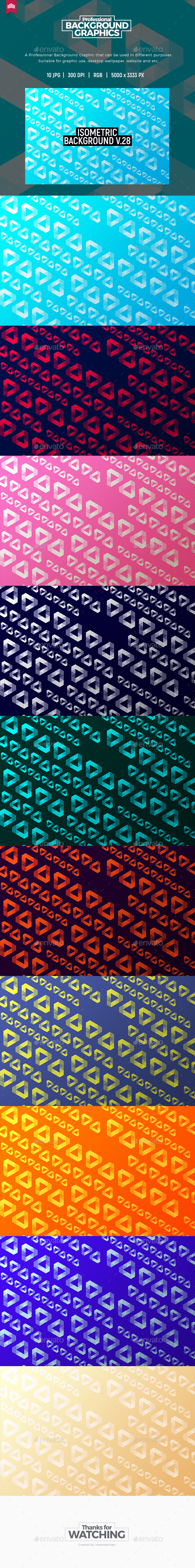 Isometric Background V.28 - Patterns Backgrounds