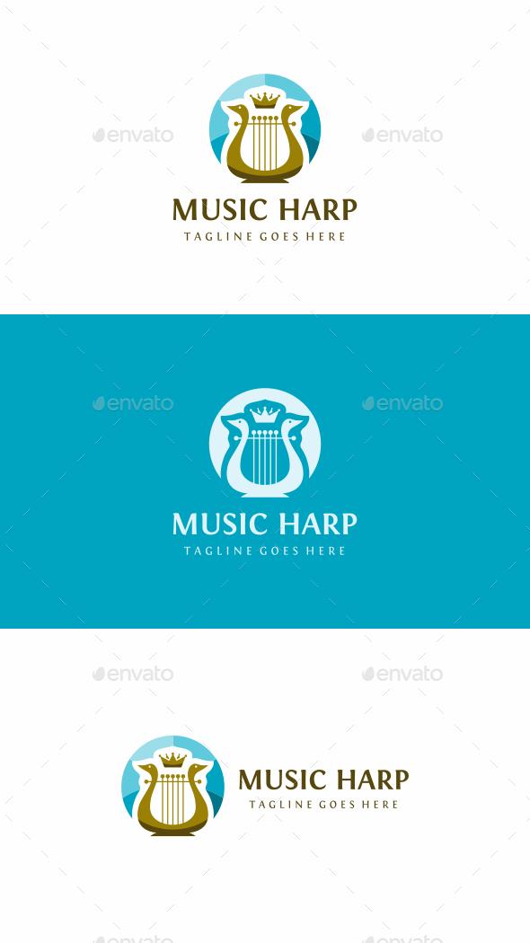 Music Harp - Objects Logo Templates