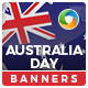 Australia Day HTML5 Banners - 7 Sizes