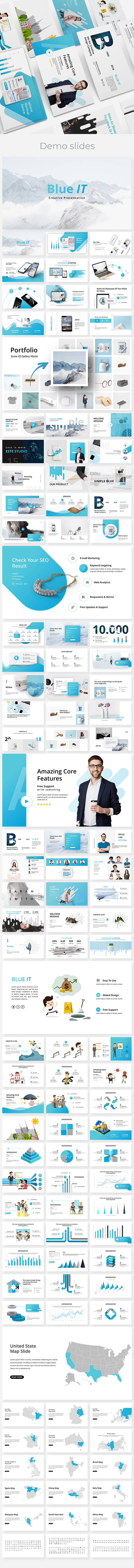 BlueIT Creative Powerpoint Template - Creative PowerPoint Templates