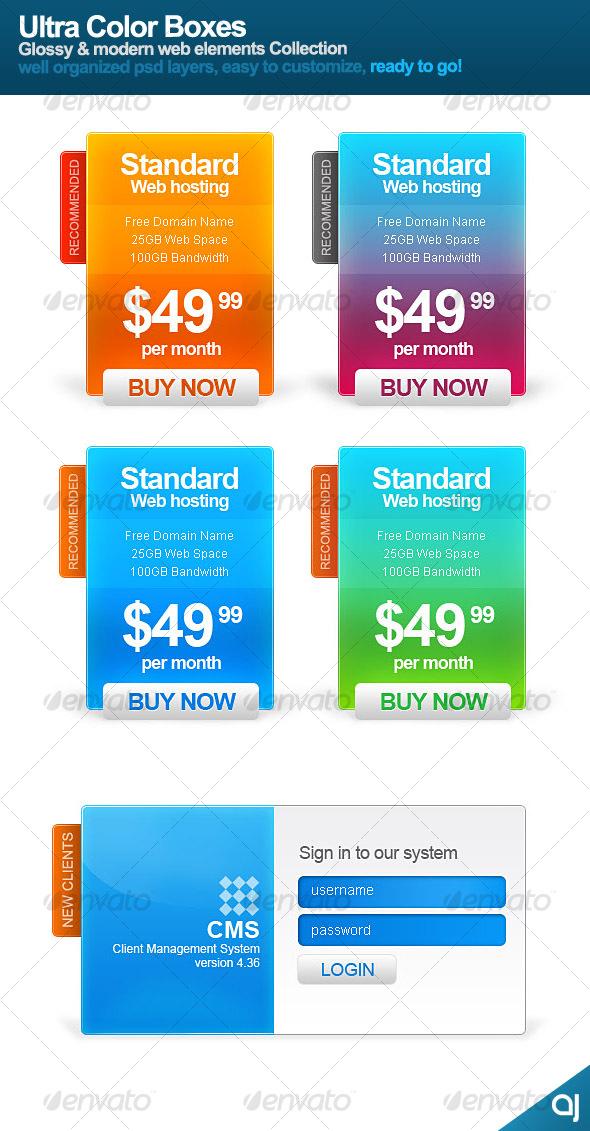 Ultra Color Boxes - Web Elements